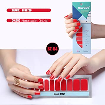 Amazon Bluezoo Nail Polish Full Nail Art Sticker Decorations