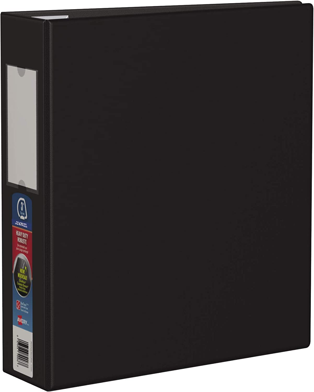 Black 79983 Avery Heavy-Duty Binder with 3-Inch One Touch EZD Ring