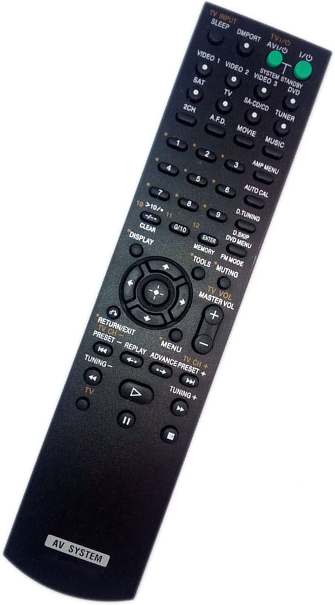 Replaced Remote Control for Sony HT-SS2000 1-480-097-11 STRK790 RMAAU006 STRKS2000 Home Theater Audio/Video Receiver AV System