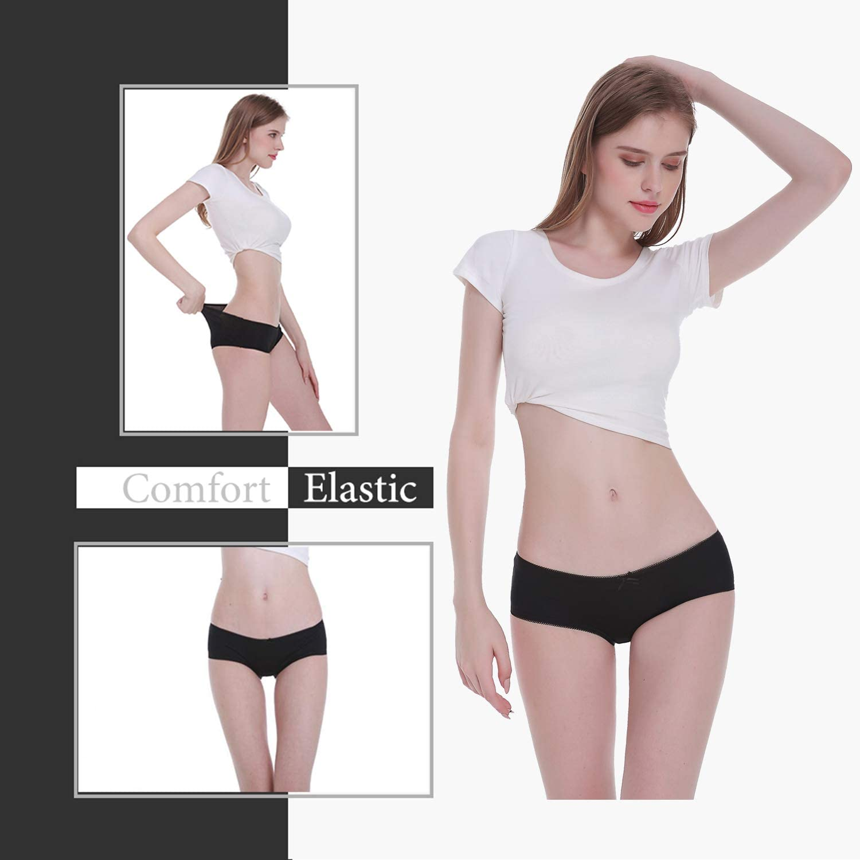 Falechay-Unterhosen-Damen Baumwolle 6er Pack Slips Hipsters Unterw/äsche Spitze Panties