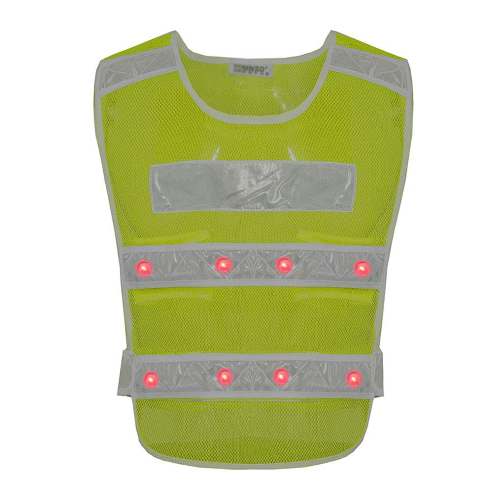 Construction Reflective Vest with LED Reflective Safety Clothing Road Protective Clothing Hujindong