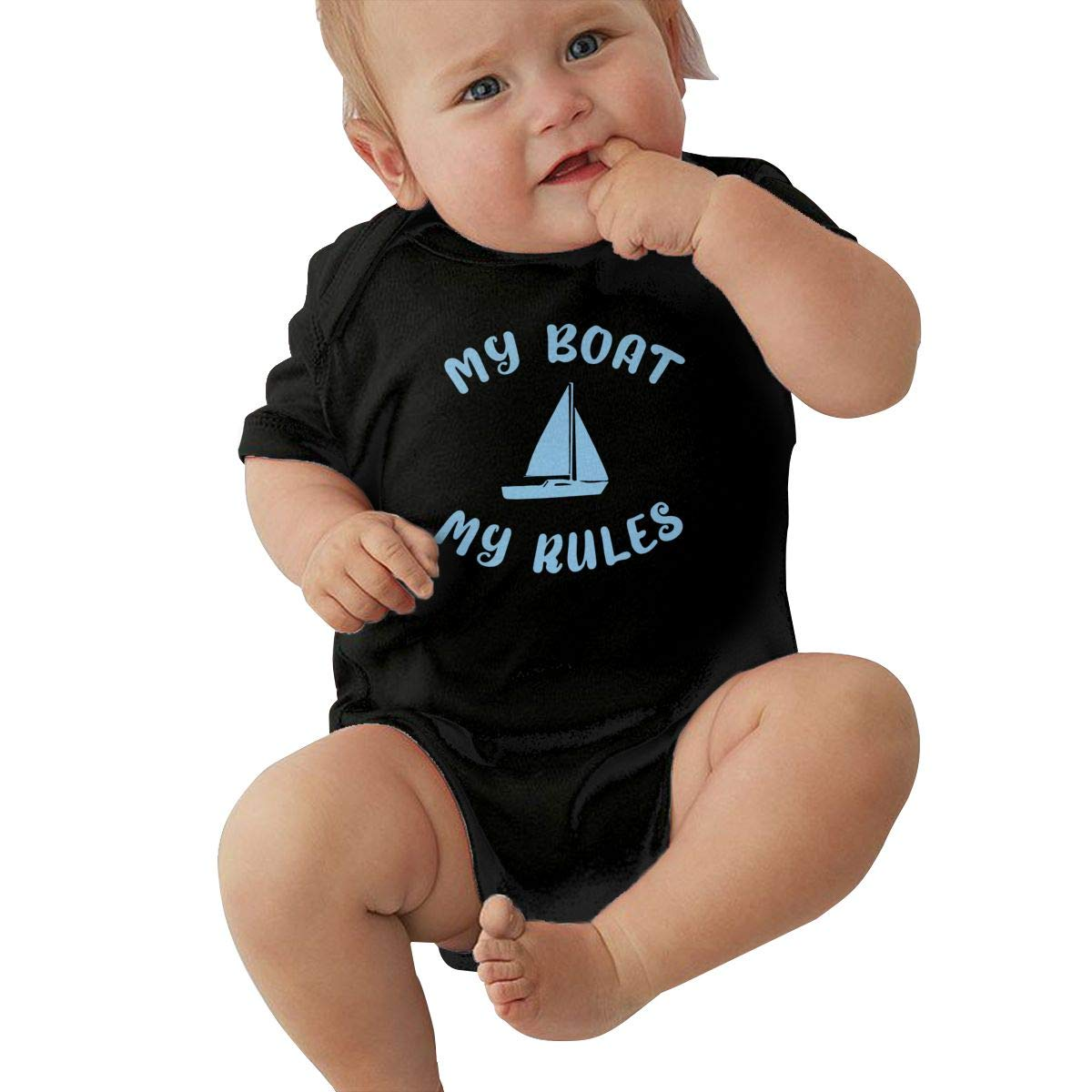 Baby Girl Short Sleeve Bodysuit My Boat My Rules Sail Toddler Jumpsuit