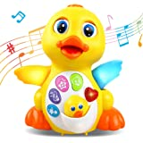 RACPNEL Baby Toys Musical Dancing Toys Duck with Lights & Sounds, Early Learning and Development Educational Toys for…