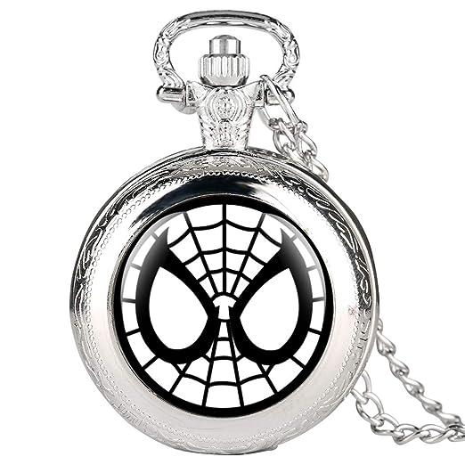 Reloj de Bolsillo Plateado para niños, Reloj de Bolsillo con patrón de Doraemon para Estudiantes, Relojes de Bolsillo Digitales arábigos para Adolescentes: ...