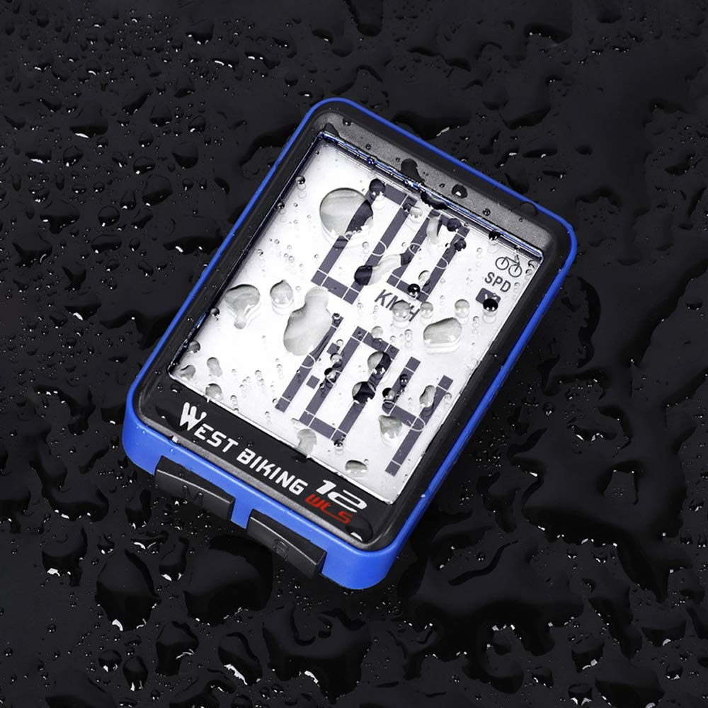 Lixada Wireless Bike Computer Bicycle Speedometer,Large Digital Display Waterproof Automatic Wake-up Stopwatch with LCD Backlight,Speed Distance Time Measure Temperature Consumption