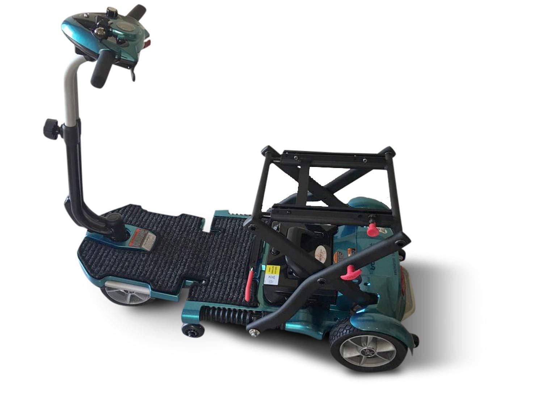 EV Rider Transport Plus - Manual Folding Scooter Power Mobility (SeaFoam Blue) by EV Rider