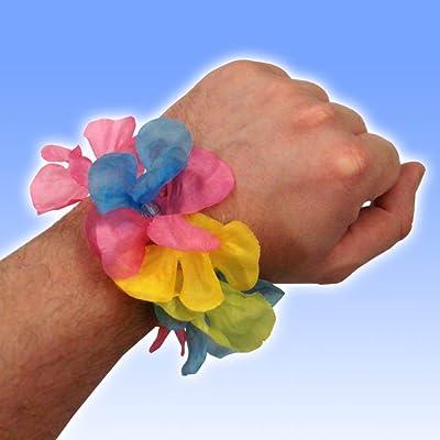 10 bracelets de fleurs hawaïens