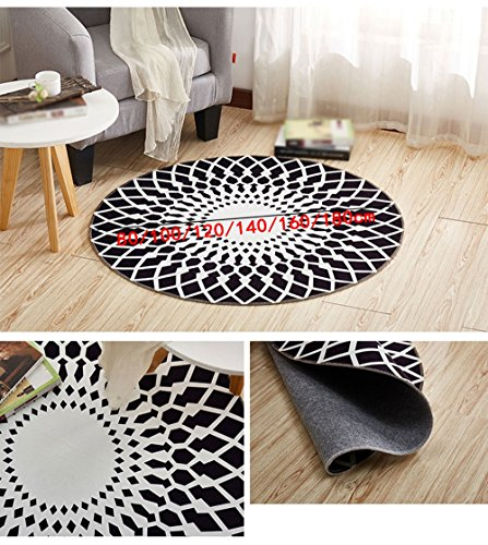 Bed front computer seat cushion / Nordic round rug / for domestic use coffee table bedroom bed side cushion / child's room crawling mat / ( Size : 160cm ) by CarPet (Image #1)