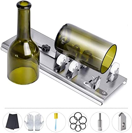 Liquor Alcohol DIY Machine for Cutting Wine Glass Bottle Cutter,Round Bottle Cutting Machine Champagne Accessories Tool Water or Soda Round Bottles /& Mason Jars to Craft Glasses Whiskey Beer