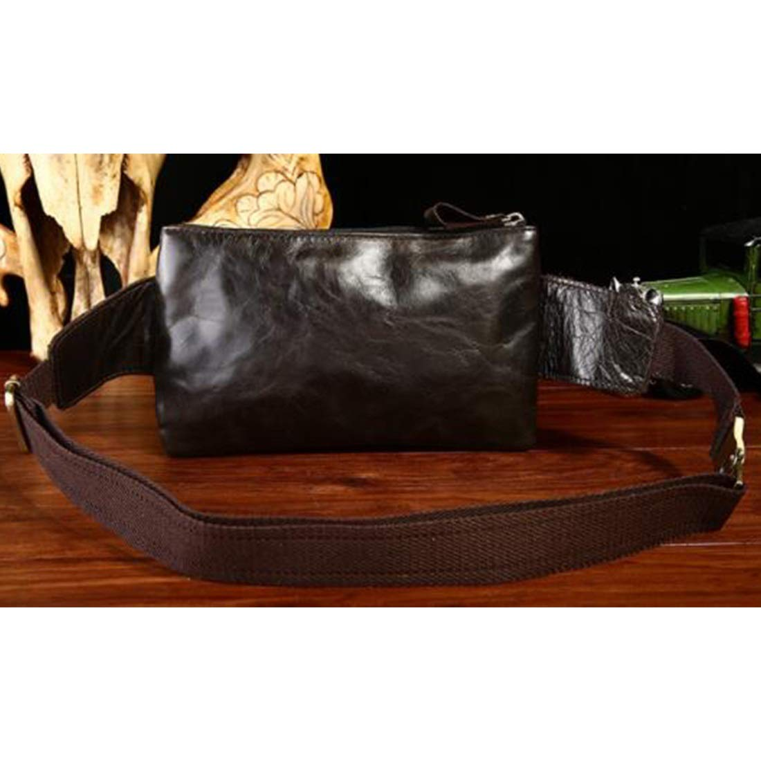 Color : Black Adams chad West Bag West Pouch Body Bag Out Genuine Leather for Exercise for Men