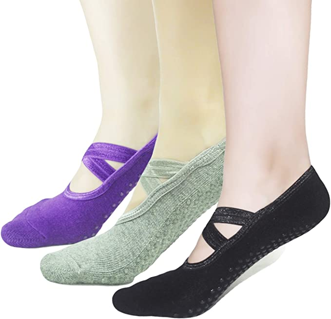 Amazon.com: Elutong - Calcetines para pilates, yoga, ballet ...