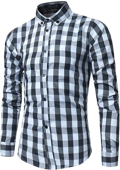 WSPLYSPJY Mens Fashion Long Sleeve Print Button Down Dress Shirt Casual Shirts