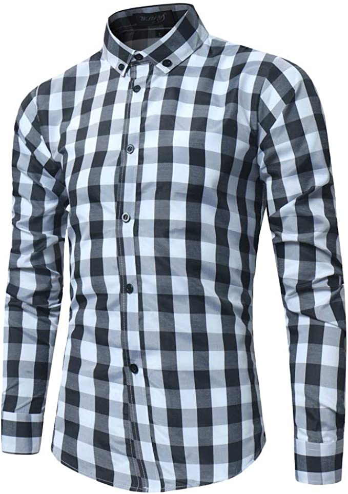 Sweatwater Boys Sport Plaid Button-Down Top Long-Sleeve Shirt