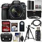 Nikon D7500 Wi-Fi 4K Digital SLR Camera & 18-140mm VR DX Lens with 64GB Card + Battery + Case + Tripod + 3 Filters + Remote + Kit