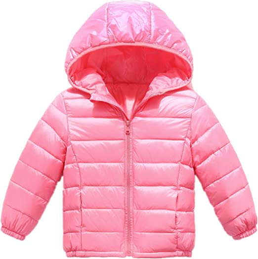 Big Girls Winter Jacket Coat with Hooded Zipper Down Puffer Jacket