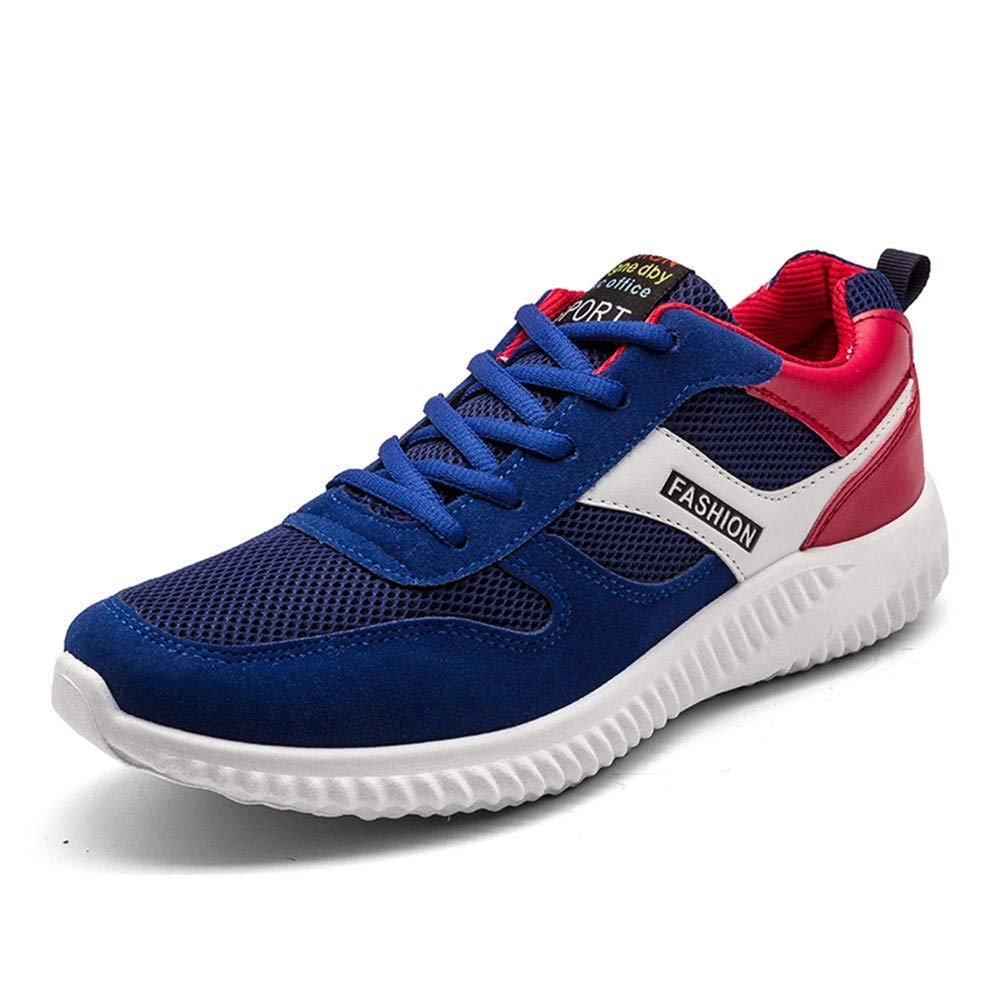 JiaMeng Zapatillas Deporte Hombre Zapatos de Entrenamiento para Hombre Malla Respirable Carta de Malla de Deporte Transpirable Correr Plana Zapatos de Punta ...