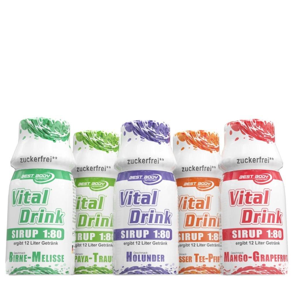 Best Body Nutrition Vital Drink Sirup, 150 ml Flasche , Birne ...
