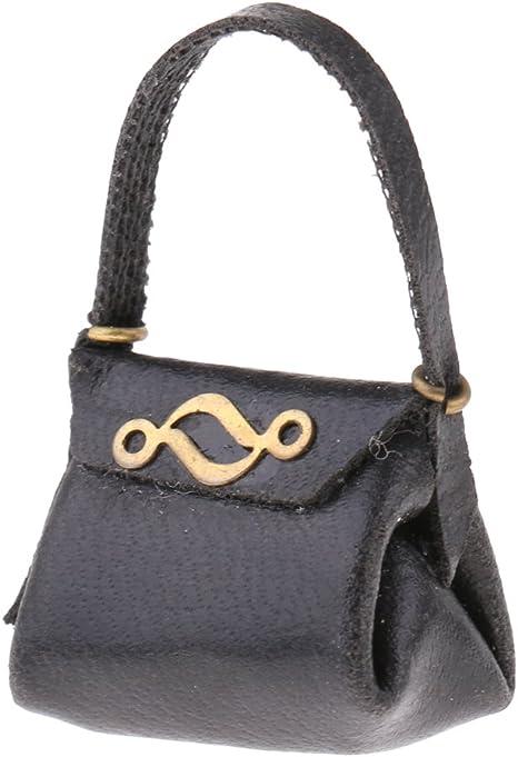 # Dolls House 5968 Handbag Black//Gold 1:12 for doll house NEW