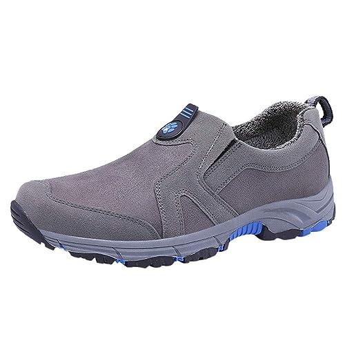 Zapatos Hombre Black Friday Casuales Invierno Zapatillas de Gamuza de Cuero para Hombre Zapatos cómodos para Caminar Zapatos de Escalada Casual: Amazon.es: ...