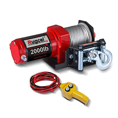 RUGCEL Electric 12V 2000lb/907kg Single Line Waterproof Winch: Home Improvement [5Bkhe0800816]