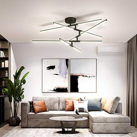 HYLH Lámpara Techo diseño línea luz Techo LED Regulable Moderna ...