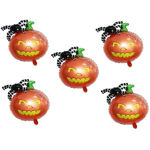 Fenteer - Globos para Halloween, 5 Unidades, para cumpleaños ...