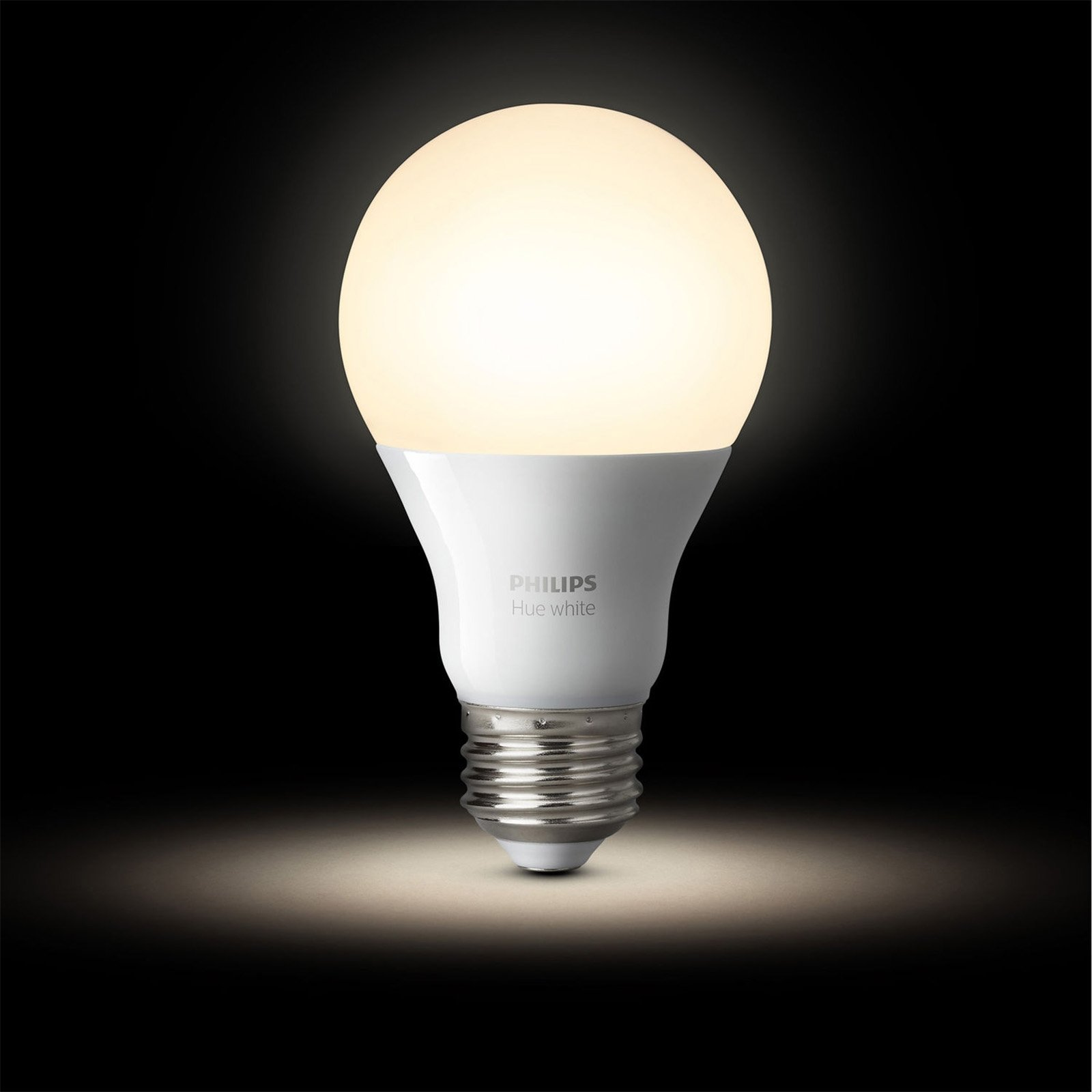 Philips Hue White A19 60W Equivalent Dimmable LED Smart Light Bulb Starter Kit (2 A19 60W White Bulbs and 1 Bridge, Works with Alexa, Apple HomeKit, and Google Assistant (Certified Refurbished) by Philips (Image #3)