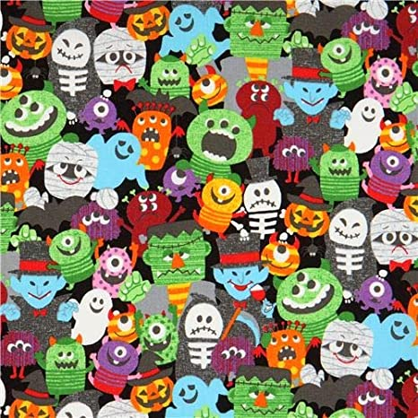 "1 yard   /""Halloween Characters/"" Fabric"