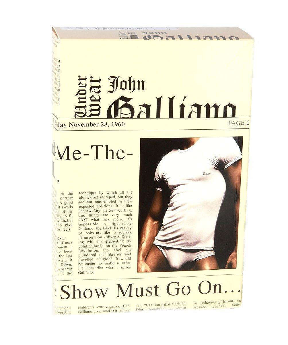 John Galliano Cotton Paperprint Trunk weiss, Grösse XXL/8