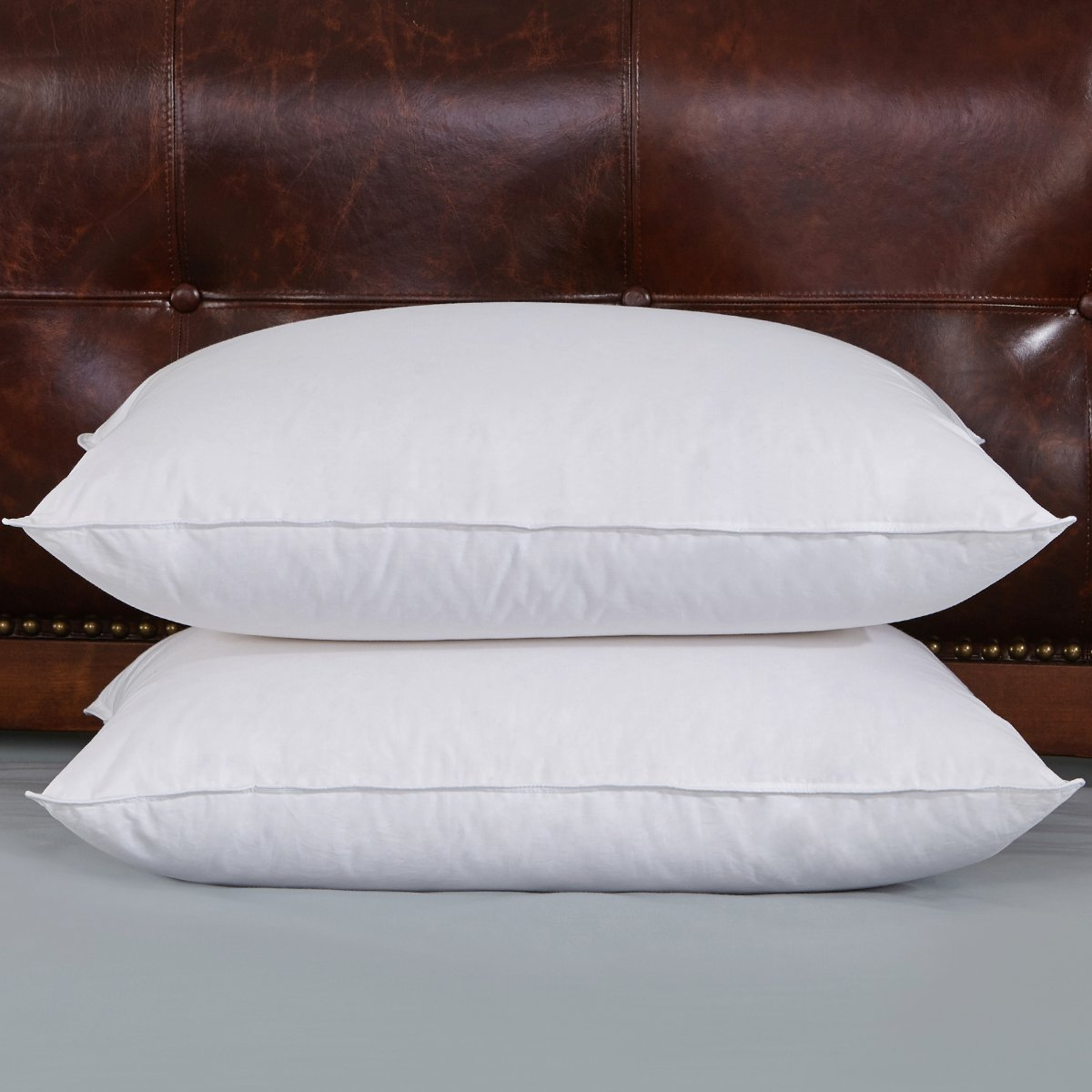 Peace Nest - Down Pillows, Firm 600 Fill Power, King Size (2PACK)