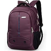 Manjhongcasual Mochila para portátil clásica mochila para libros, mochila retro para portátil para dama, hombre, mochila para laptop de 15 pulgadas, Púrpura, One_Size
