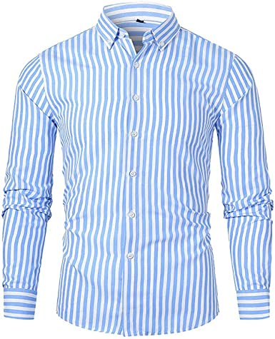Hombre Camisetas Blusas clásicas Camisa de Manga Larga con