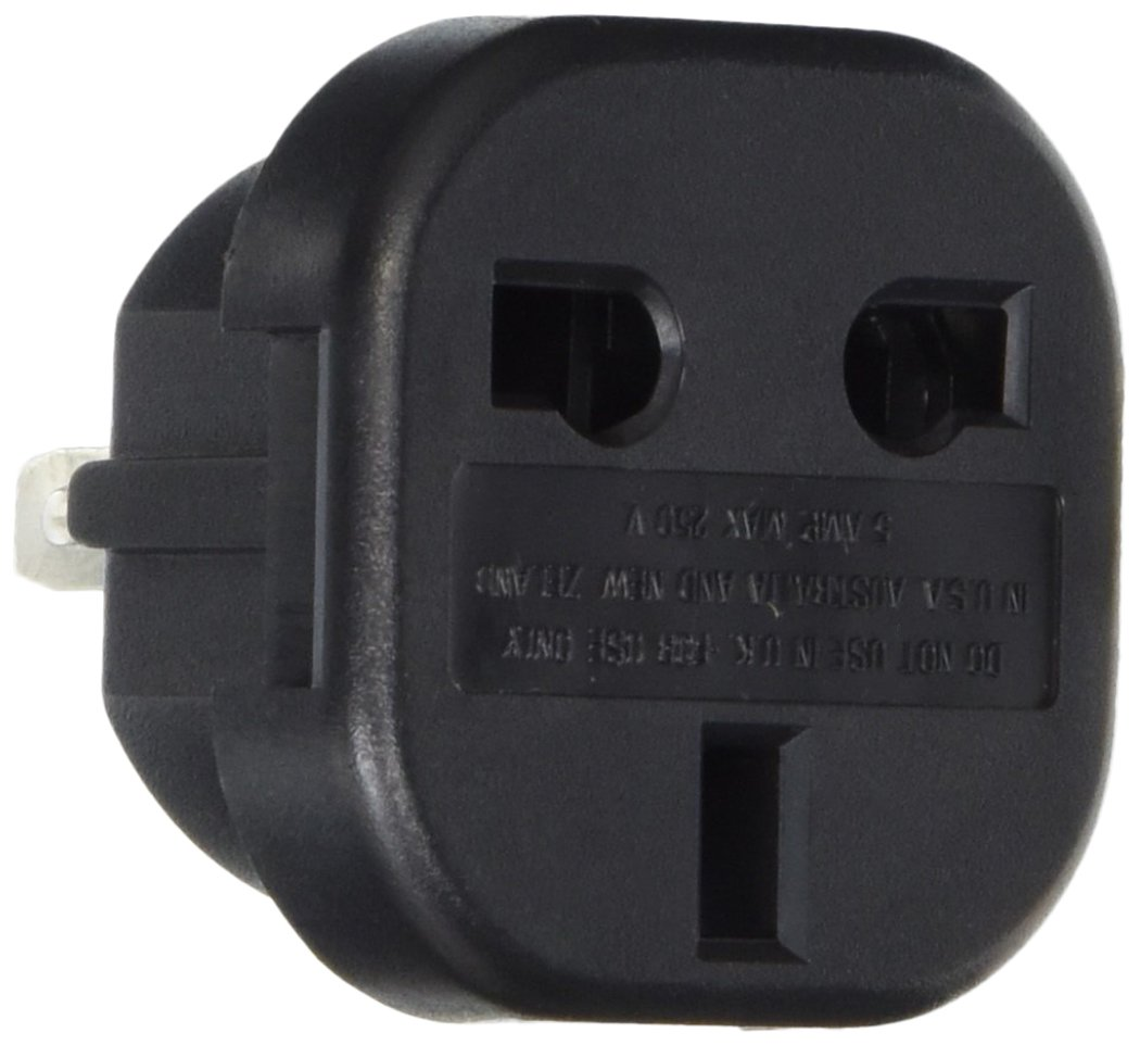 VCT VP9F Converts 3 Pin UK Plugs to USA or Australian Plug Adapter