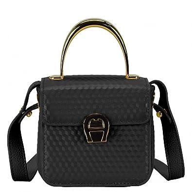 neuartiges Design Herbst Schuhe Outlet zum Verkauf Aigner Genoveva Mini Bag Handtasche Leder 12 cm black: Amazon.de ...
