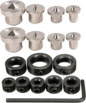 """Drixet Drill Stop Bit Collar Set – Kit Includes: 1//8/"""" 1//4"""" 3//... 3//16"""" 5//16"""""""