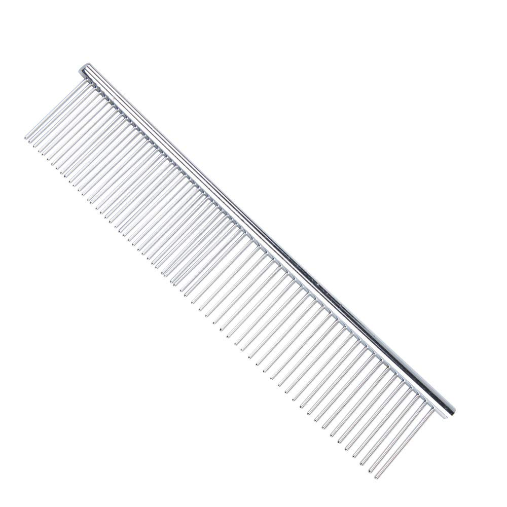 Decoroom Pet Grooming Comb Stainless Steel Dog