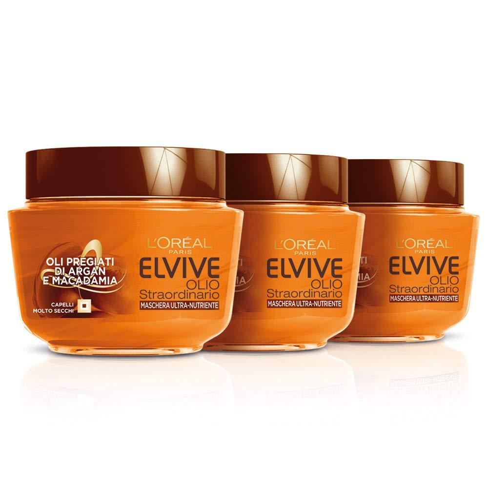 Elvive L'Oréal Paris Elvive Maschera Protettiva per Capelli Colorati Color-Vive, 3 Confezioni da 300 ml [900 ml] L' Oréal Paris A9585100
