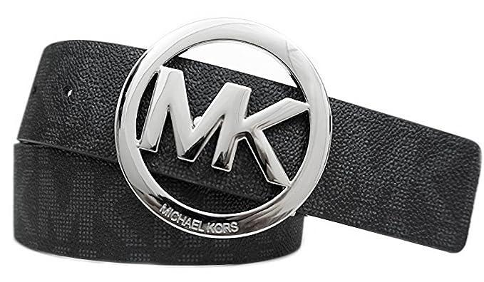 4e7464efe54 Michael Kors Mk Signature Monogram Logo Buckle and Belt at Amazon ...