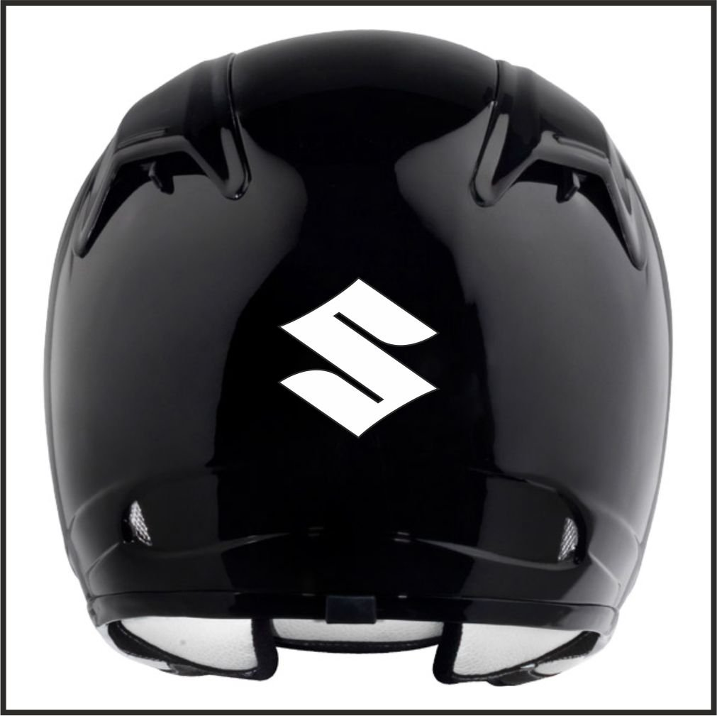 Amazoncom Suzuki Logo Helmet Motorcycle Decal Sticker M - Helmet custom vinyl stickers