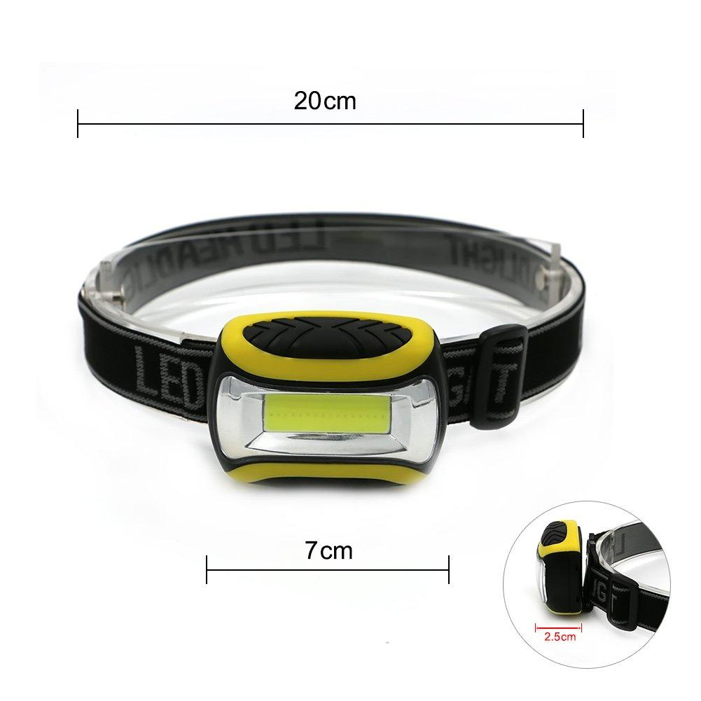 3 Modos Pescar s/úper Brillante Gaocunh COB Linterna Frontal LED para Correr Uso de Emergencia