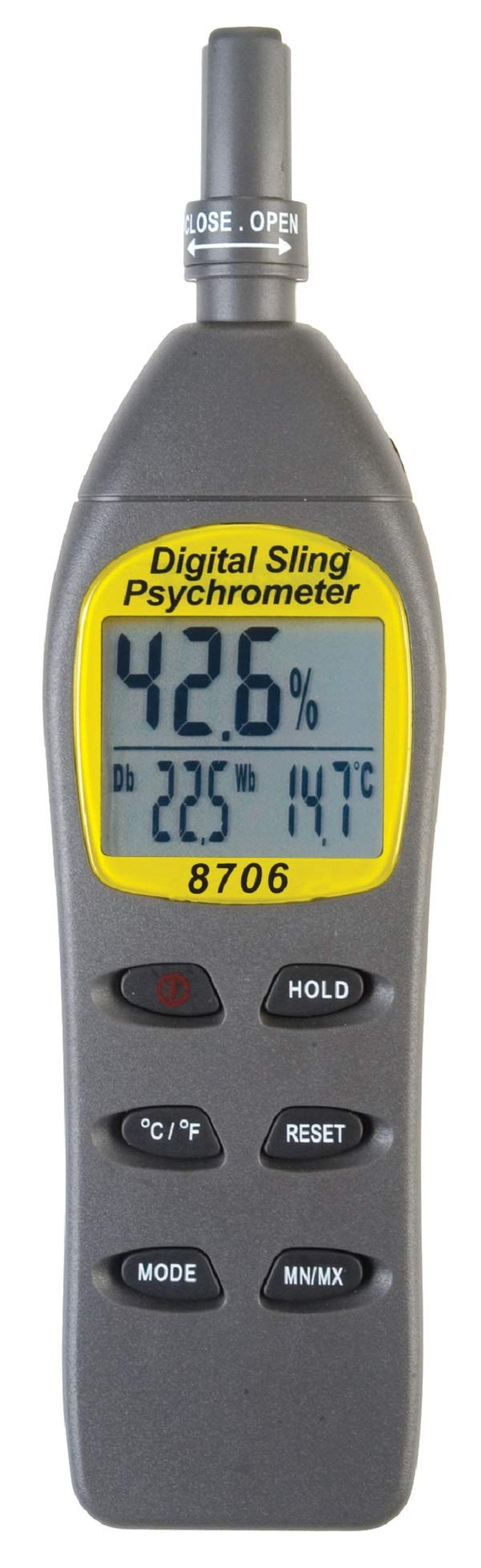 REED Instruments 8706 Digital Psychrometer/Thermo-Hygrometer, (Wet Bulb, Dew Point, Temperature, Humidity) by REED Instruments