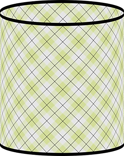 LampPix 11 Inch Custom Printed Table Desk Lamp Shade Lime Green Argyle Pattern (Uno Fitting)
