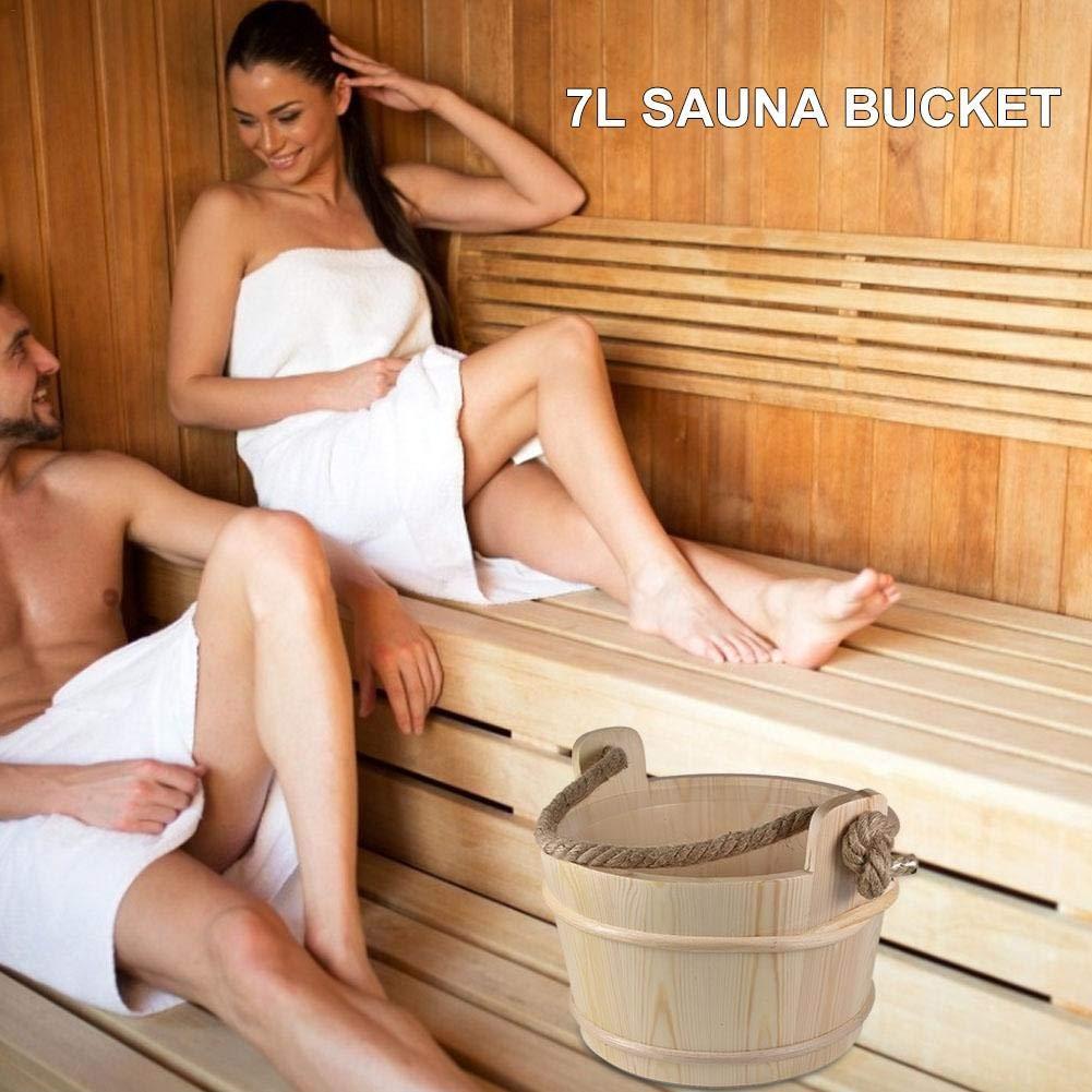 following Kit De Sauna En Bois De Pin Naturel Robuste Ensemble De Sauna Classique En Bois Fait /À La Main Seau Deau Pour Sauna De 6L Avec Poign/ée En Corde Pour Hammam Accessoire Essentiel applied