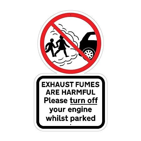 Jaf Graphics Turn Off Your Engine Sign Kid Safety School Car Park