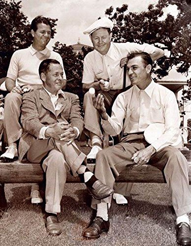 Ben Hogan Sits With Bobby Jones And Back Jimmy Demaret And Byron Nelson T Shirt Iron On 8 x 10 Photo - Jimmy Demaret Golf