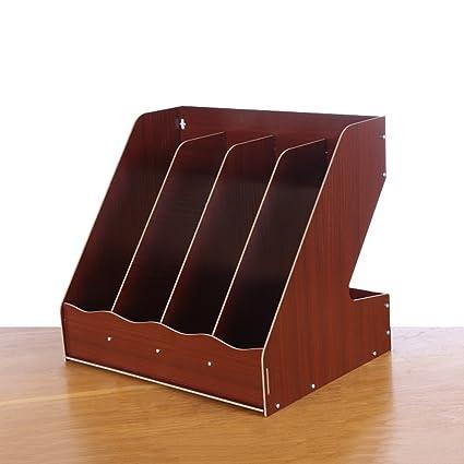 Archivadores de madera, carpeta de suministros de oficina, A4, caja de almacenamiento de