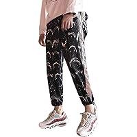 Aibearty Women Reflective Drawstring Track Pants Striped Joggers Sweatpants Casual Hip Hop Streetwear Trouser