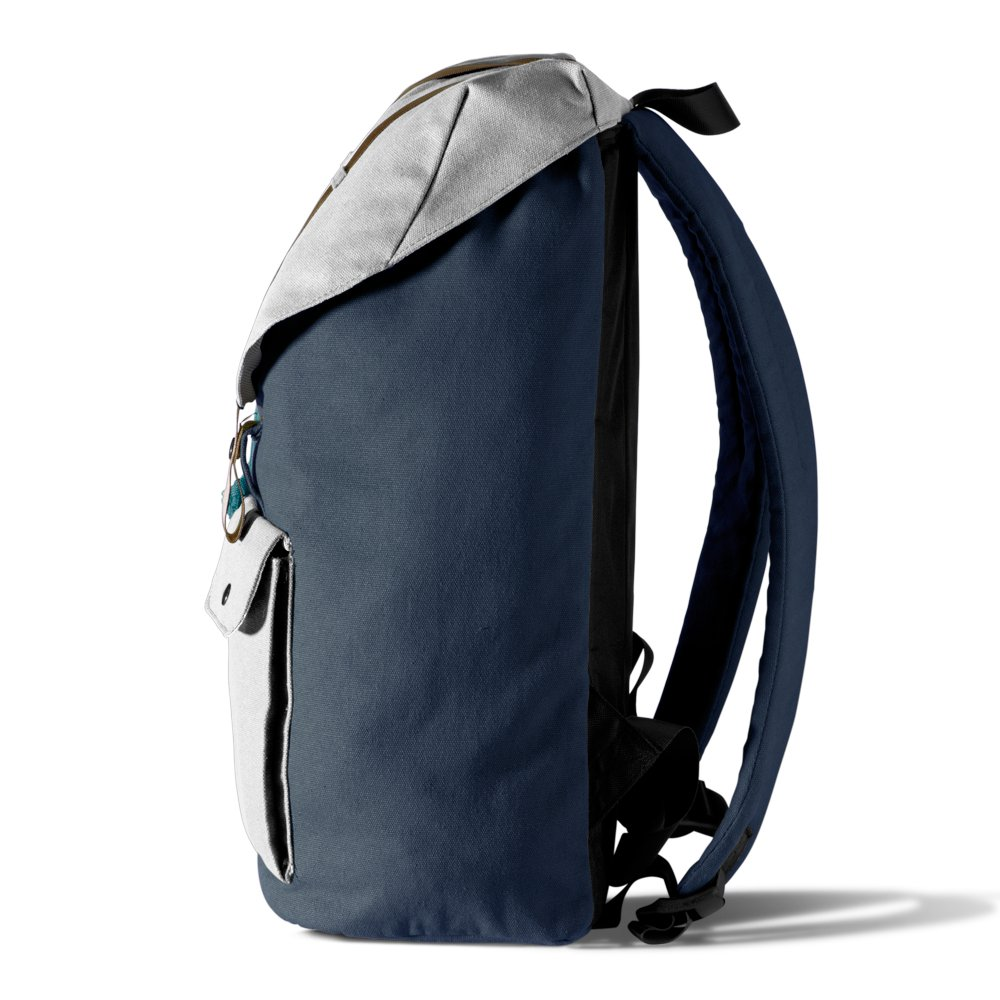 Lightweight Travel Backpack Durable Canvas and Leather Material TruBlue The Original+ Black Rock- Adaptable Personal Backpack for Laptops up to 15.6 inch 22L School Rucksack