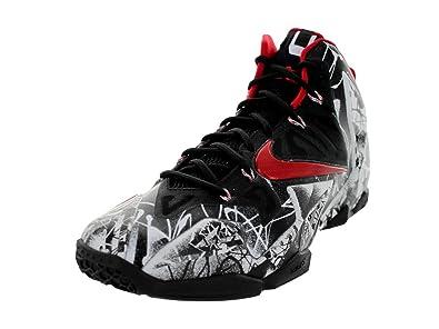 newest f1f48 37776 NIKE Lebron XI Graffiti Men's Basketball Shoes White/University Red-Black  616175-100