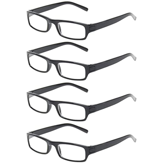 b527276ac363 READING GLASSES 4 Pack Great Value Quality Readers Fashion Unisex Glasses  for Reading (4 Pack